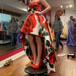 Sherri Hill Rose high/low dress